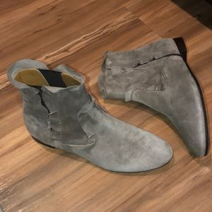 Like New Aquazzura Frou Suede Booties Grey 5.5
